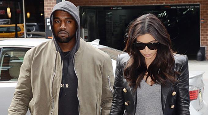 Kanye West und Kim Kardashian.