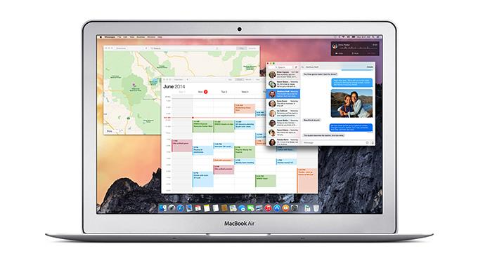 Neuer Look, neue Funktionen: Apple OS X Yosemite.