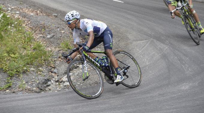 Nairo Quintana führt im Gesamtklassement sieben Sekunden vor Alberto Contador. (Archivbild)
