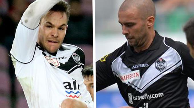 Hart bestraft: Patrick Rossini (l.) und Igor Djuric vom FC Lugano.