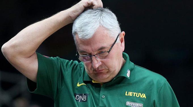 Litauens Trainer Jonas Kaslauskas.