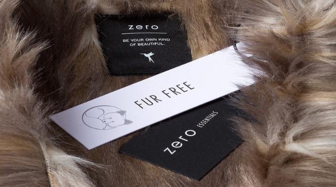 zero-Etiketten der neuen Kollektion.