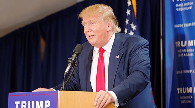Donald Trump hat die Nase vorne.