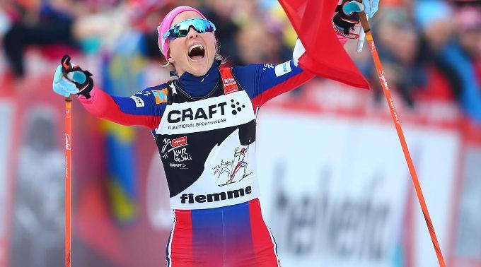 Bis ins Ziel lief die 27-jährige Therese Johaug einen Vorsprung von 2:20,9 Minuten heraus.