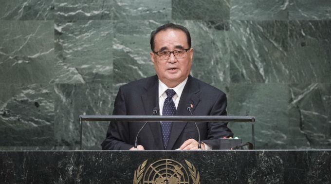 Nordkoreas Aussenminister Ri Su Yong. (Archivbild)