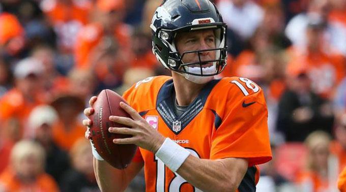 Quarterback der Denver Broncos, Peyton Manning.