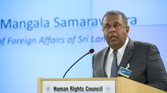 Sri Lankas Aussenminister Mangala Samaraweera. (Archivbild)