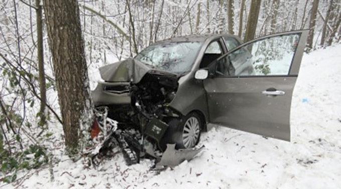 Das Unfallauto des 77-jährigen Fahrers.