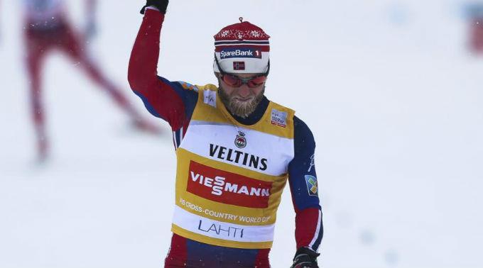 Der Tagessieger Martin Johnsrud Sundby.